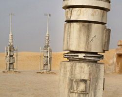 abandoned star wars film sets in the tunisian desert